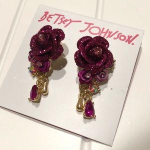 BETSY JOHNSON Rose Earrings